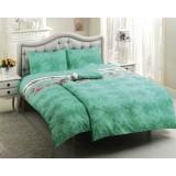 Комплект постельного белья TAC Satin Everyday Britan зеленый