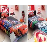 Комплект постельного белья TAC Disney Cars 2 Movie с простыней на резинке