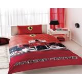 Комплект постельного белья TAC Disney Ferrari с простыней на резинке