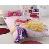 Комплект постельного белья TAC Disney Princess Happily Ever after с простыней на резинке