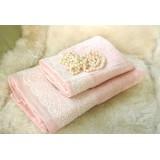 Набор махровых полотенец Diandra FLASHY розовый